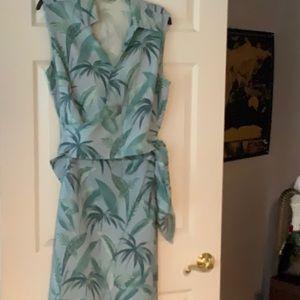 2-pc Top and Skirt with wrap around sash 100% Silk